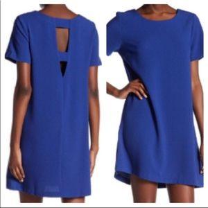 Bobeau Cutout Crepe Shift Dress